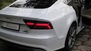 www.udanewesla.pl Białe Audi A7 samochód na wesele