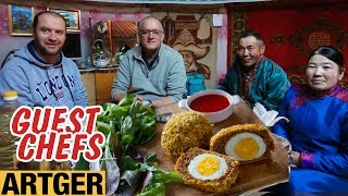 Mongolian Herders Try Scotch Egg And Battered Fish & Chips For The First Time | Guest Chefs
