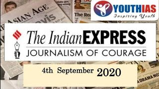 04TH SEPTEMBER 2020 I INDIAN EXPRESS NEWSPAPER I EDITORIAL ANALYSIS I ABHISHEK BHARDWAJ