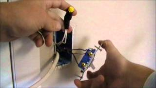 how to wire an outlet off of a switch
