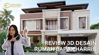 Video Desain Rumah Modern 2 Lantai Bapak Harris di  Pekanbaru, Riau