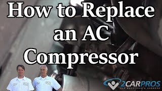 AC Compressor Replacement Mercedes Benz C230