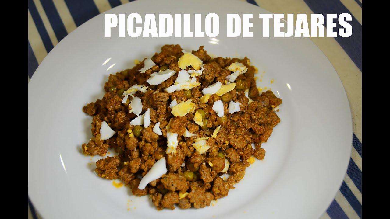 PICADILLO DE TEJARES, RECETA GRABADA CON UNA GOPRO