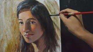 Portrait Malen Mit Acryl Tipps Farbe Kunst