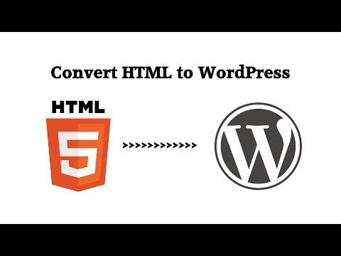 Convert HTML Website to WordPress Theme Menu and Sidebar Widgets (part 2)