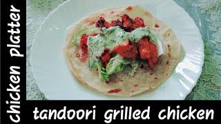 Chicken platter  tandoori grilled chicken  Fatima's cooking