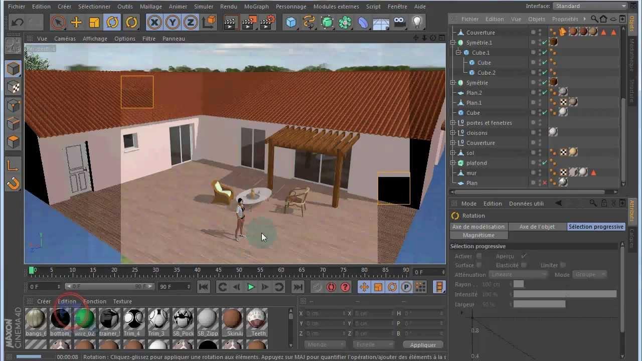 tuto c4d]modelisation d'une maison decords et lumieres
