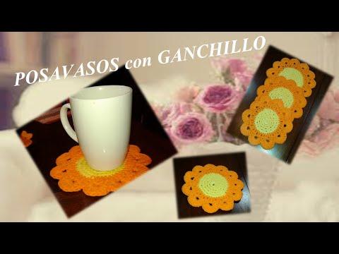 Cómo tejer posavasos para tazas con BEBIDAS CALIENTES!!! Con ganchillo / crochet fácilmente
