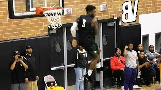 Nate Robinson Catches Off The BACKBOARD OOP At The Drew League!