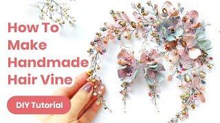 DIY Hair Accessory Handmade Idea. Wedding Or Graduation Outfit. Spring Look 2020