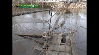 Жители поселка Труженик из-за паводка лишились единственной переправы через реку Большой Авраль