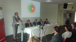Nadeem Nusrat speaking at BNM Berlin Conference