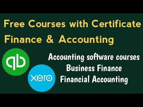 Finance and Accounting Free Online Courses with Certificate ...