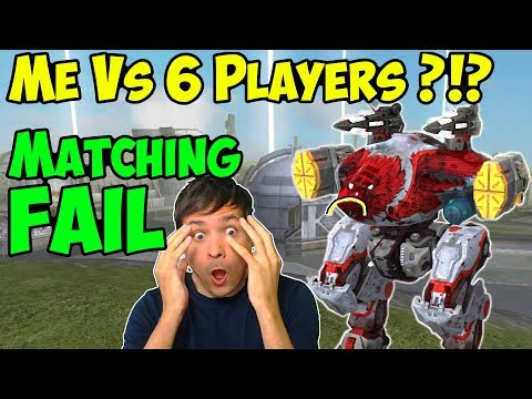 War Robots Manni Vs 6 Players TDM - Matchmaking FAIL - WR