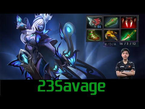 23Savage Drow Ranger super Multishot delete Slark