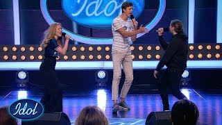 Mats, Leonora og Sigurd får alle i godt humor med sin fantastiske energi   Idol Norge 2018