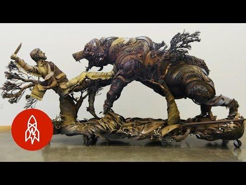Junkyard Cowboy Welds Masterpieces from Scrap
