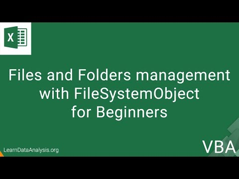 Files and Folder Management with FileSystemObject API in VBA | Excel VBA Tutorial