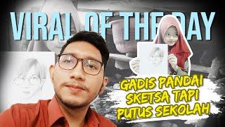 VIRAL HARI INI: Gadis Pandai Buat Sketsa namun Putus Sekolah di Sukabumi, Jokowi Turun Tangan