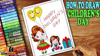 How To Draw A Picture For Childrens Day ฟร ว ด โอออนไลน ด ท ว