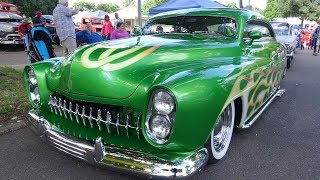 """1951 Mercury Lead Sled Showstopper In Gorgeous Synergy Green At """"Back To The 50's""""."""
