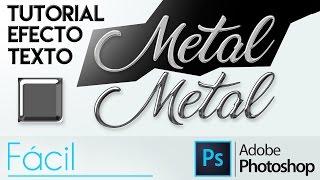 Photoshop CC   Efecto Metal/Cromado En Un Texto (fácil)   Tutorial En Español