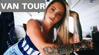 VAN LIFE | OFFICIAL VAN TOUR OF A SOLO FEMALE FULL TIME TRAVELER W PITBULLS!