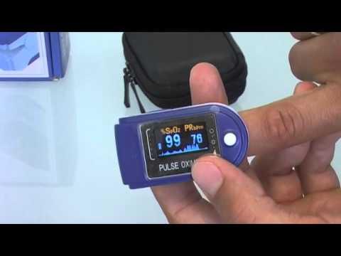 Pulsiossimetro a dito con display orientabile SAT 200