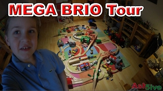 BRIO Holz Eisenbahn | MEGA BRIO ROOM Tour Video | Kinderfilm Ash5ive