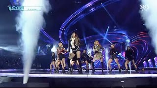 BLACKPINK   '휘파람 (WHISTLE)' + '불장난 (PLAYING WITH FIRE)' In 2016 SBS Gayodaejun