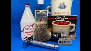 Mühle R89, Mühle Blade, Mühle RYTMO Pinsel, Old Spice Shaving Mug und After Shave
