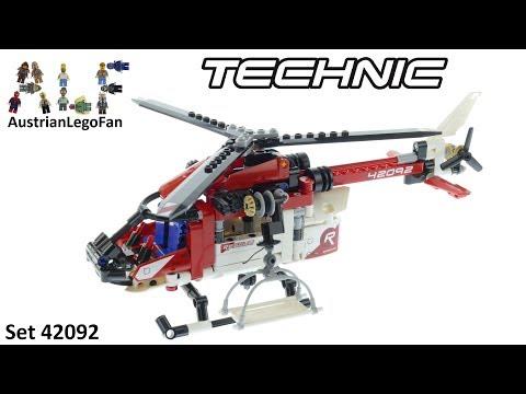 Vidéo LEGO Technic 42092 : L'hélicoptère de secours