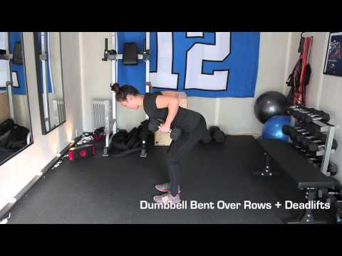 Dumbbell Bent Over Rows + Deadlifts
