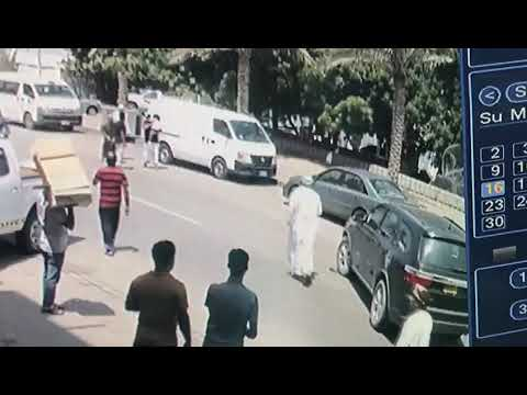 Video: Child has lucky escape after being run over by SUV in Oman