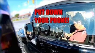 DISTRACTED DRIVERS #1 Crashing while using a Phone || Dash Cam Compilation