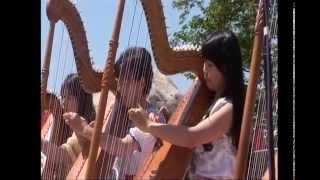 あづみの公園早春賦音楽祭2015 アルパ演奏