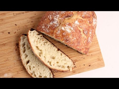 No-Knead Rustic Bread Recipe – Laura Vitale – Laura in the Kitchen Episode 1025