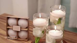 Floating Candle Centerpiece | Home Decor Ideas | Lighthaus Candle