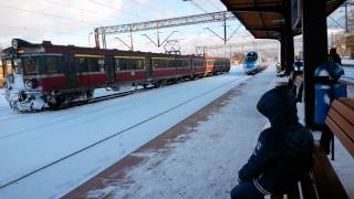 preview picture of video 'Lubliniec Dworzec PKP 8.02.2014 Pendolino'