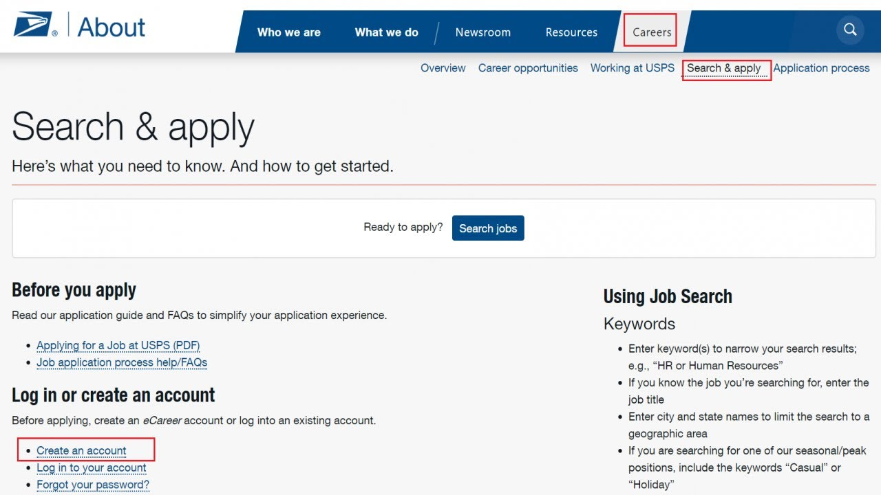 Usps careers process step hiring list
