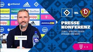 Die Pressekonferenz vor Dynamo Dresden