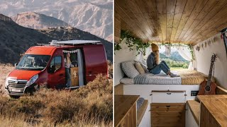 VAN TOUR // After 6 years travelling THIS is their VAN CONVERSION // UNIQUE, SPACIOUS MWB LAYOUT � by Nate Murphy