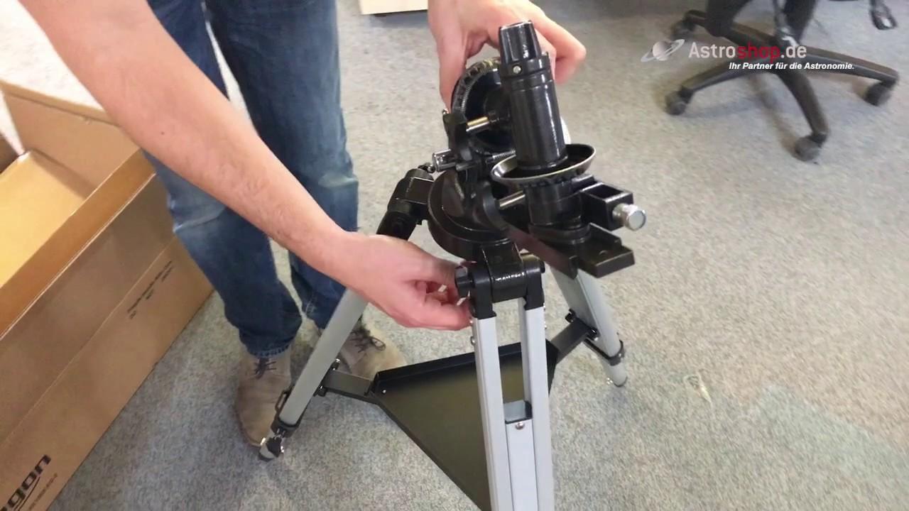 So bauen Sie ein Teleskop auf
