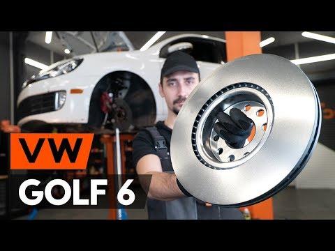 Wie VW GOLF 6 (5K1) Bremsscheiben vorne wechseln [TUTORIAL AUTODOC]