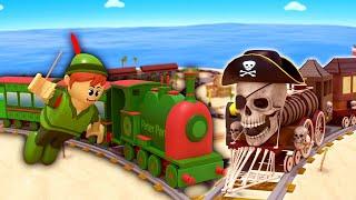 Pirates cartoon for kids - Peter pan rescue cartoon for kids - Choo choo train kids videos