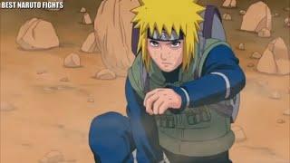 Yellow flash- minato vs 1000 rock shinobis in Third great ninja War
