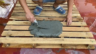 Amazing Technique Making Aquarium From Wood Pallet And Cement - Garden Decoration Ideas For You