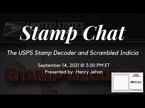 Stamp Chat: The USPS Stamp Decoder and Scrambled Indicia