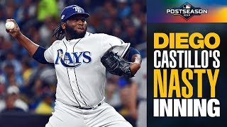 Rays' Diego Castillo unleashes NASTY 1st inning to strike out the side vs. Astros