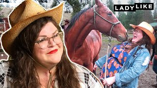 Kristin Gets Over Her Fear Of Horses In Montana • Ladylike